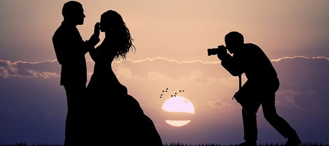 Silhouette Wedding Photograph